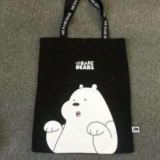 We Bare Bear Black Shoulder Bag