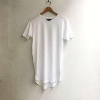 COTTON ON - Longline Fit Plain White Tees