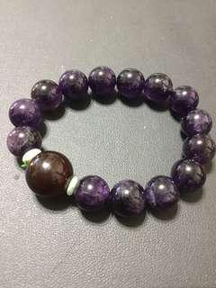 🚚 紅玉髓+高級紫水晶手珠