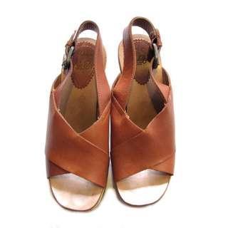 Zara Leather Block Heels