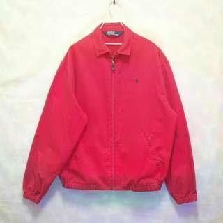 三件7折🎊 Ralph Lauren Polo 夾克 外套 紅 小馬 極稀有 老品 復古 古著 vintage