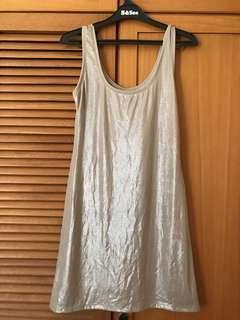 Zara shiny metallic dress