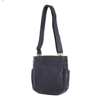 One Fated Knight - Dark Blue Bishop Bucket Tote / Cross Body Bag