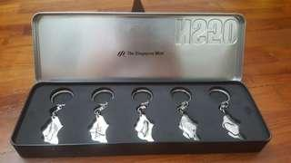 NS50 keychains from the singapore mint