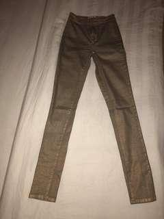 Gold brown pants