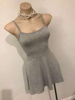Ladies summer skater grey sleeveless dress size 6 8 Xs s