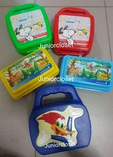 [Juniorcloset] 🆕️ authentic Singapore Airlines Jungle animals USS Woodpecker lunch box Snoopy lunchbox