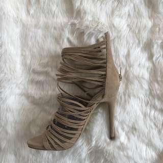 Nude Dotti Strappy Stiletto Heels
