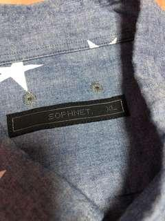 Sophnet oxford chambray stars dress shirt