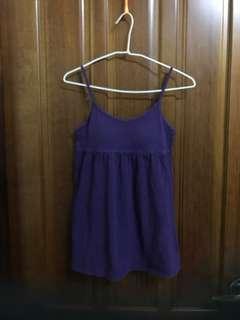 lative 紫色 bra T 細肩帶背心 免穿內衣 台灣製 素色 單色 傘狀上衣 肩帶可調