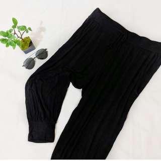 Black baggy genie harem pants