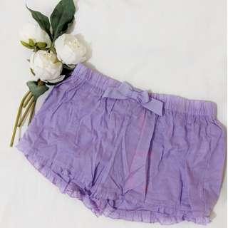 Purple sleeping shorts boxers