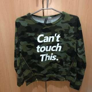 H&M Army Green Sweater (Cant touch this)