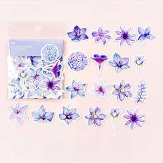 Purple Flower Scrapbook Stickers