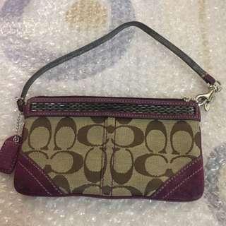 🚚 Coach紫色單層手拿包