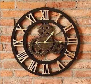 Minimalist vintage roman numbers clock / home decor po