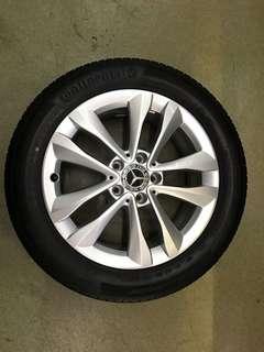 "17"" 5x112 mercedes new car trade in wheel n tyre"