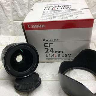 Canon 24mm f1.4L mkii USM