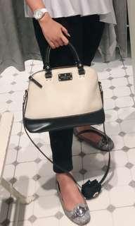 Katespade black and white bag