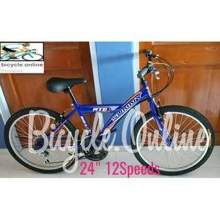 "24"" Sunny Y-MTB / Mountain Bikes ☆ 12 Speeds ☆ Brand New Bicycles *Black also available in 26"""