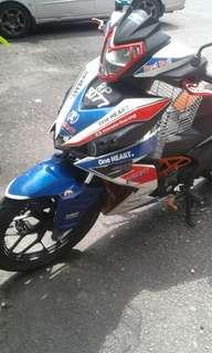 HONDA RS150 FOR SALE YEAR 2017 WITH GERAN,INSURANCE AND ROAD TAX TILL JUNE 2019