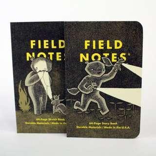 Field Notes Haxley 冒險故事 筆記本 特殊夜光墨水(一組兩本)