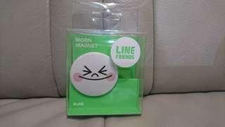 LINE FRIENDS 饅頭人磁鐵MEMO夾
