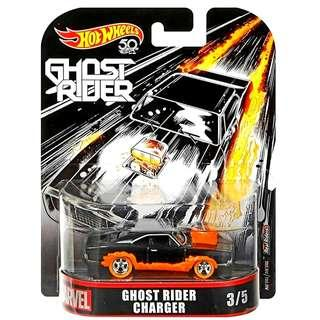 Hot Wheels 50th Anniversary Marvel Ghost Rider Charger Hotwheels Character Cars MISB