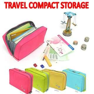 🚚 TST020 Travel Compact Cosmetic Coins Passport Storage Bag Brand New