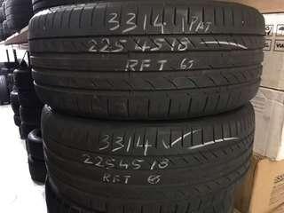 225/45/18 conti csc5 run flat used tyre