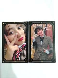 free mailing twice yes or yes jihyo chaeyoung photocards instock