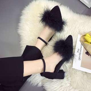 [PO] Furry Block Heels