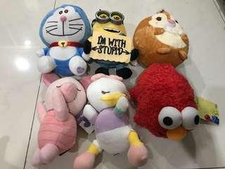 Brand new Disney piglet, daisy, Ufufy, elmo, doraemon and minion plush soft stuff toys for cheap sale!