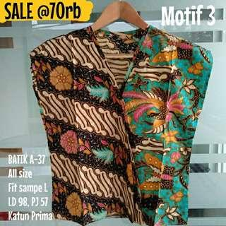 SALE [NEW] BLOUSE BATIK WANITA A-37 Motif 3