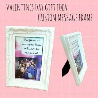 🚚 Valentines day gift idea customized message frame