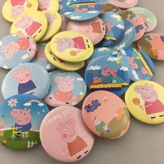 Instock Peppa Pig Badges Pin Badge Clip Accesories Bag Clothes Decoration