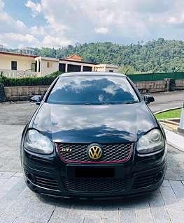 SEWA BELI  VW GOLF MK5 GTI 2.0  YEAR 2007 MONTHLY RM 1050 BALANCE 4 YEARS 2 MONTHS ROADTAX JULY 2019 SPORT RIM LEATHER SEAT TIPTOP CONDITION  DP KLIK wasap.my/60133524312/mk5