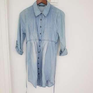 Miss Selfridge Denim Shirt Dress