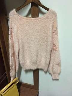 🚚 柔膚粉嫩針織毛衣
