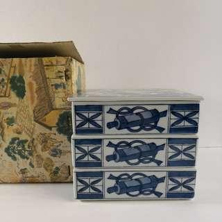 Japanese Stacking Square Porcelain Bento Box