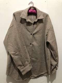 🚚 格紋襯衫外套