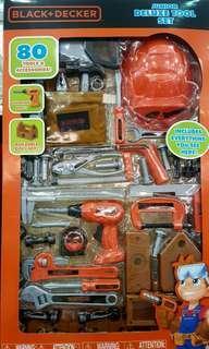 🚚 BLACK+DECKER 80件五金手工具玩具組-吉兒好市多COSTCO代購