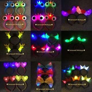 LED Devil headband / LED Light Up Headband