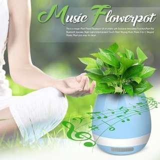 Magic Flowerpot Bluetooth Speaker (Light Blue)