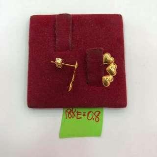 18k saudi gold Earring 😍