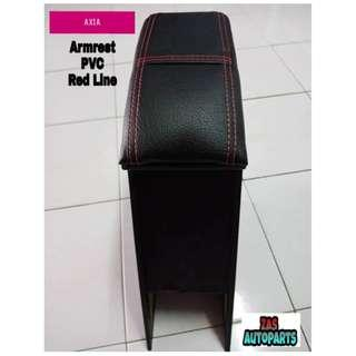 AXIA ARMREST PVC RED LINE