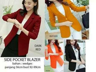 Side pocket blazer