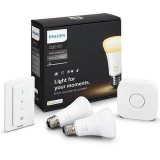 Philips hue white ambiance starter kit E27 x 3 light bulb