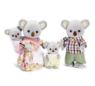 *In Stock* BN Calico Critters Sylvanian Families Epoch Outback Koala Family with Baby Set
