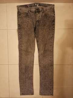H&M 男裝窄身洗水牛仔褲 slim cut jeans